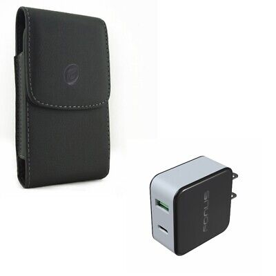 $ CDN32.97 • Buy For Galaxy Note 10 - 36W Quick Home Charger W Leather Case Belt Clip