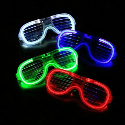 LED Glasses Light Up Glow Flashing Sunglasses Eyewear Night Club Bar Adults Ku • 3.77£