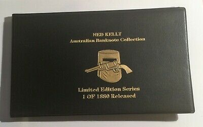 AU25 • Buy Set Of 5 Ned Kelly 24 K 999 Gold Foil Banknote Album, 1,5,10,50 And 100 Pounds