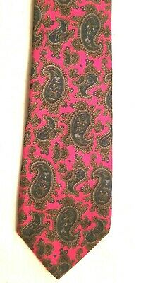 $9.99 • Buy Fuschia Paisley Silk Tie