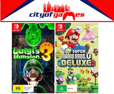 AU139.95 • Buy Luigi's Mansion 3 & New Super Mario Bros. U Deluxe Bundle Nintendo Switch New