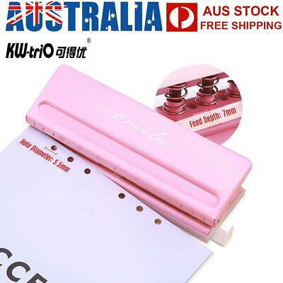 AU28.99 • Buy Adjustable 6-Hole Desktop Punch Puncher For A4 A5 A6 B7 Dairy Planner O1Q3
