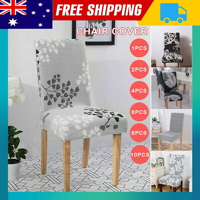 AU35.99 • Buy 2/4/6pcs Dining Chair Covers Kitchen Home Seat Cover Stretch Removable Slipcover