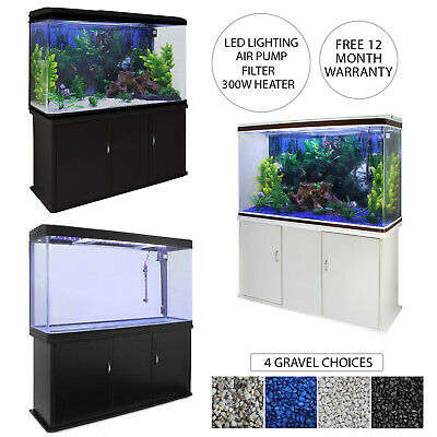 AU1069.93 • Buy Fish Tank Aquarium Cabinet LED Lighting Tropical Marine Filter Coldwater 300L