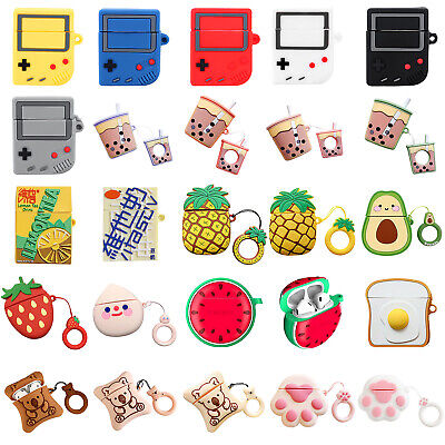 $ CDN8.92 • Buy Cute Cartoon Silicone Airpod Protective Case Cover For Apple Airpods 1/2  Lot