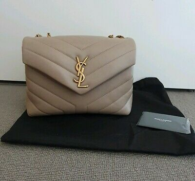 AU2399 • Buy Brand New Saint Laurent Ysl Loulou Small Bag Matelasse Y Leather Rrp $2680