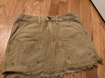 $14 • Buy Free People Skirt Military Style Sexy Cotton Women's Size 27.