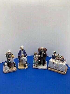 $ CDN63.13 • Buy Lot Of #4 Vintage Norman Rockwell Figurines By Norman Rockwell Museum.