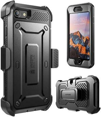 Supcase IPhone 7/8+ Plus Full-Body Rugged Holster Case - Built-in Screen - Black • 49.99£