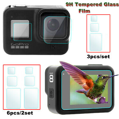 $ CDN2.41 • Buy For Gopro Hero 8 Camera Accessories Lens Screen Protector Protective Film 3/6Pcs
