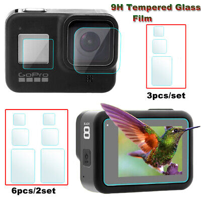 $ CDN2.28 • Buy 3/6Pcs For Gopro Hero 8 Camera Accessories Lens Screen Protector Protective Film
