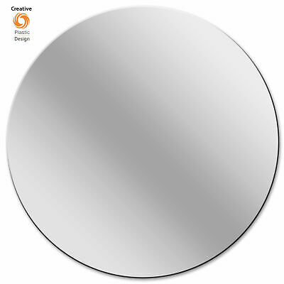 Frameless Round Mirror Acrylic Circles Modern & Shatter Resistant Perspex   • 3.95£