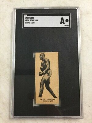 $299.99 • Buy 1923 W580 Jack Johnson Hand Cut Strip Card SGC AUTHENTIC Boxing
