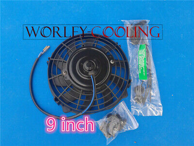 AU35 • Buy 9  Inch PULL/PUSH RADIATOR Electirc Thermo Curved Blade FAN & MOUNTING New