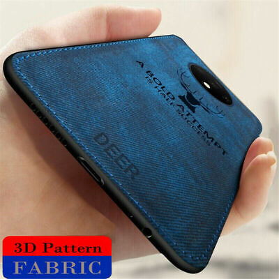 AU4.09 • Buy For OnePlus 7T Pro 7 6 6T 5 5T Fabric Texture Hybrid Soft TPU Leather Case Cover