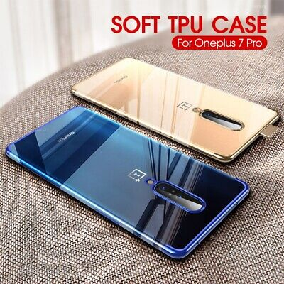 AU5.15 • Buy For OnePlus 7T 7 Pro 6T 6 5T Thin Electroplate Clear Soft Silicone Case Cover