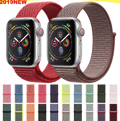 $ CDN8.89 • Buy Loop Woven Nylon Watch Band Strap For Apple Watch Series 5 4 3 2 1 38/40/42/44MM
