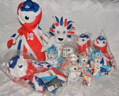 2012 Olympic London Union Jack Wenlock Lion Mandeville Soft Toys And Backpack 10 • 32£