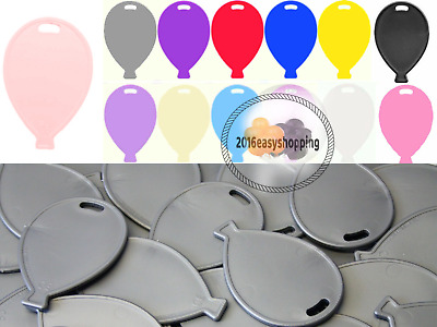 £2.49 • Buy Balloon Shape Plastic Weights Latex Balloons 12 Colours To Choose For Helium Uk