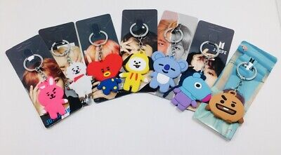 $9.95 • Buy New K-POP BTS  High Quality BT21 Character Rubber KeyChains US Seller!