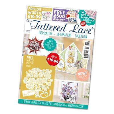 Tattered Lace Issue 61 Magazine With FREE Bouquet Die & FREE UK P&P - CLEARANCE • 6.99£