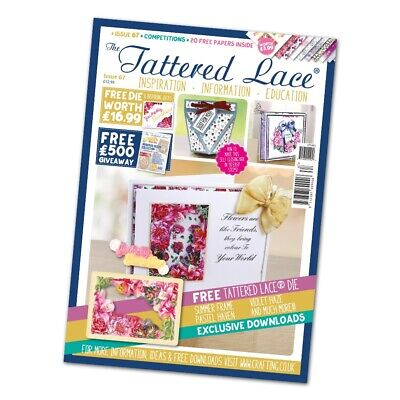 NEW Tattered Lace Issue 67 Magazine With FREE Summer Frame Die - CLEARANCE • 7.99£