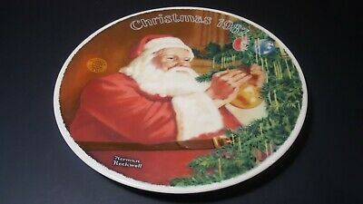 $ CDN8.33 • Buy 1987 Knowles Norman Rockwell Santa's Golden Gift Plate     PL2