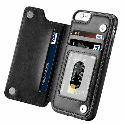 $ CDN10.28 • Buy Leather Flip Wallet Card Holder Case Cover For IPhone 12 11 7 8Plus Samsung S10+