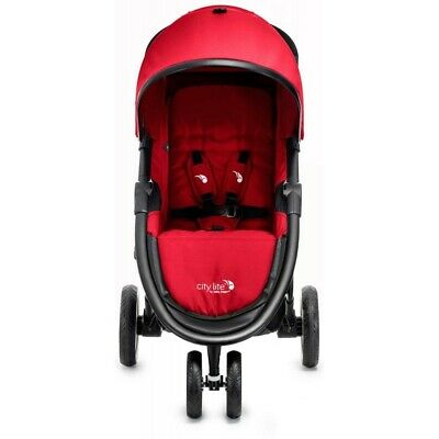 Red Baby Jogger 3 Wheeler Pushchair For To Collect Used But Still Working.  • 130£