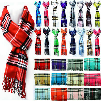 $5.99 • Buy For Womens Mens Winter 100% Cashmere Plaid Scarf Scotland Made Scarves Wool Wrap