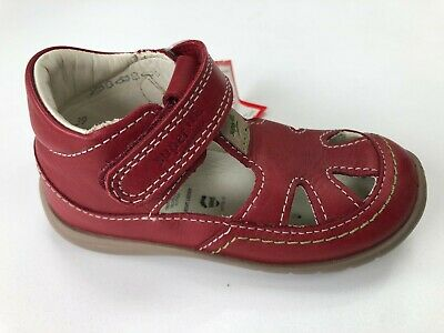 Superfit Fire Rose Girls Red Leather Shoes Size UK 6 Infant  EU 23 • 14.95£