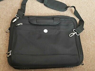 Genuine DELL 17  Professional PADDED Briefcase Notebook Laptop Case BAG BLACK • 24.99£