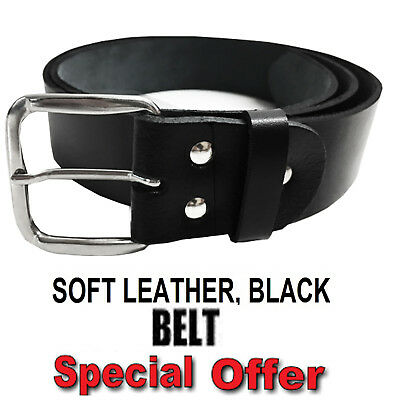 New Mens Leather Belts Buckle Belt For Jeans Big Tall King Waist Sizes S - 3XL  • 8.95£