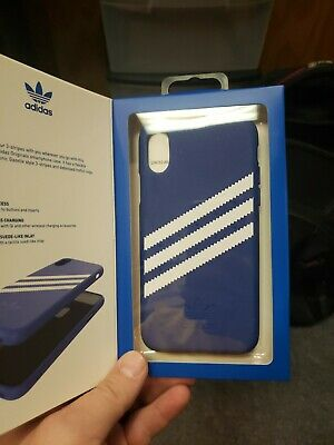 AU13.11 • Buy NEW Genuine Adidas Originals Gazelle Slim Case For IPhone X (5.8 ) Blue / White