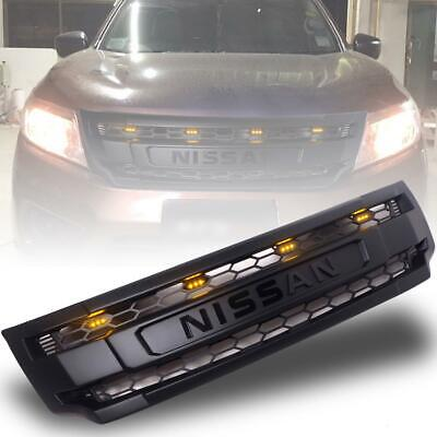 AU290.69 • Buy Grille Grill Yellow LED Black Logo For Nissan Navara NP300 D23 2015 16 17 18