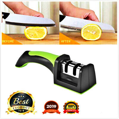 $4.99 • Buy KNIFE SHARPENER Kitchen Knives Blade Sharpening Tool 2 Stage Handheld System NEW