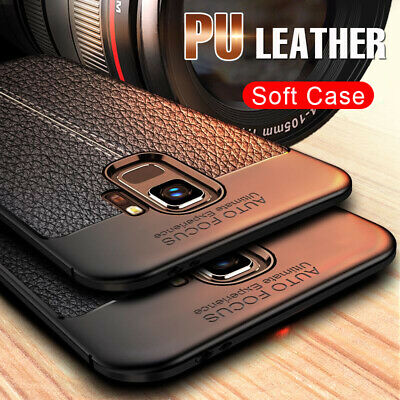 $ CDN6.99 • Buy Luxury Shockproof PU Leather Soft Back Case Cover For Samsung Galaxy S8 S9 Plus