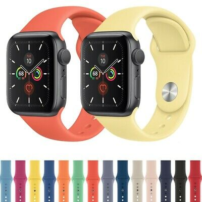$ CDN7.99 • Buy 38/42/40/44/mm Silicone Sport IWatch Band Strap For Apple Watch Series 5 4 3 2 1