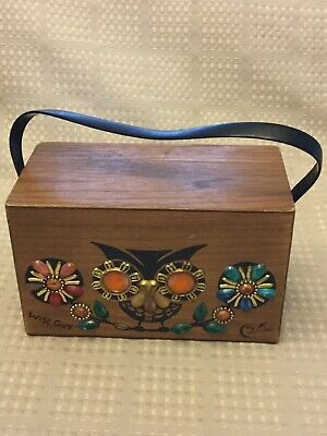 $59.95 • Buy Vintage Enid Collins Of Texas Box Purse Wise Guy Owl VTG