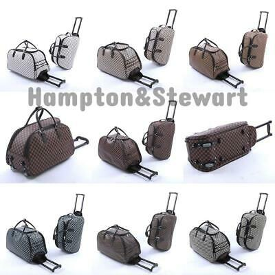 New Ladies Women's Travel Holdall Trolley Luggage Bag With Wheels Holiday Bags • 18.99£