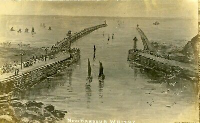 Whitby Scarce RP Of New Harbour By JT Ross (From GS French Painting) 1911 • 25£