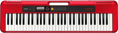 $150 • Buy Casio Casiotone 61-Key Portable Keyboard - Red - CT-S200RD