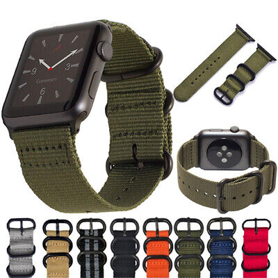 $ CDN5.67 • Buy 38/42mm 40/44mm For Apple Watch Series 5 4 3 2 1 Nylon Woven Sports Band Strap