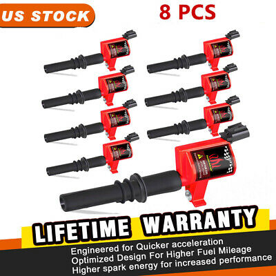 $36.99 • Buy 8Pack Ignition Coils DG511 For Ford F150 F250 F350 2005-2008 5.4L Heavy Duty New