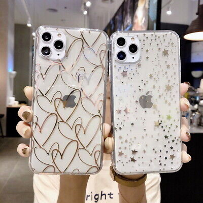 AU4.99 • Buy For IPhone 11 Pro Max XR XS X 8 7 Plus Plating Heart Star Clear Soft Case Cover