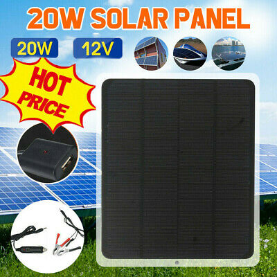 AU19.99 • Buy 20W 12V Car Boat Yacht Solar Panel Trickle Battery Charger Power Supply Outdoor