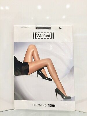 Wolford Neon 40 Tights Nearly Black Brand New In Packet  • 32£