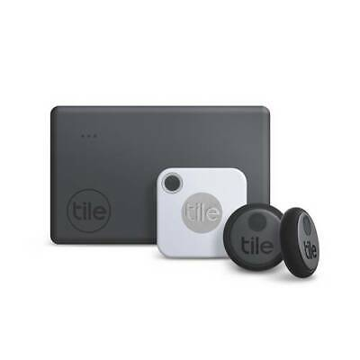 Tile Essentials Combo 4 Pack- GPS Bluetooth Tracker Key Finder Anything Locator • 63.99£