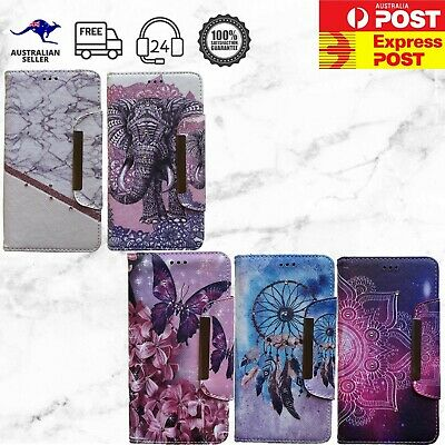 AU16.99 • Buy IPhone Magnetic Detachable Wallet Dreamcatcher Mandala Marble Elephant Case