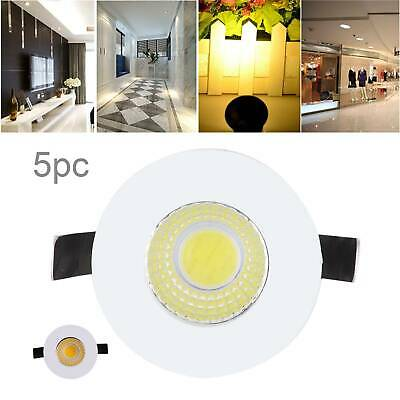 £10.59 • Buy 5 X 3w LED Recessed Small Cabinet Mini Spot Lamp Ceiling Downlight Kit Fixture